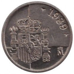 Münze > 1Peseta, 1989-2001 - Spanien  - reverse