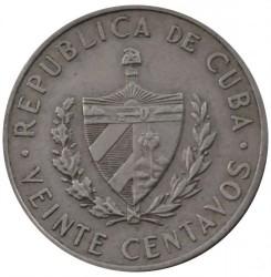 Монета > 20сентаво, 1962-1968 - Куба  (Хосе Марті) - obverse