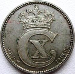 Moneda > 25öre, 1913-1919 - Dinamarca  - obverse