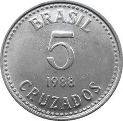 Coin > 5cruzados, 1986-1988 - Brazil  - reverse