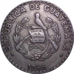 Moneta > 25centavos, 1965-1966 - Guatemala  - obverse