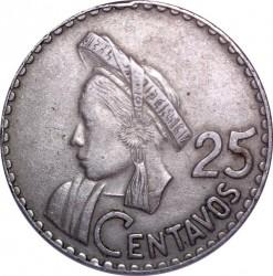 Moneta > 25centavos, 1965-1966 - Guatemala  - reverse