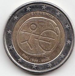 Moneda > 2euro, 2009 - Eslovènia  (10 anys de la Unió Econòmica i Monetària (UEM) i del naixement del euro) - obverse