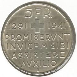 Moneta > 5franchi, 1941 - Svizzera  (650° Anniversario - Confederazione Svizzera) - reverse