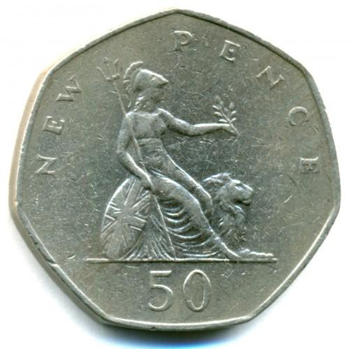 50 New Pence 1969 1981 Royaume Uni Valeur Pièce Ucoinnet