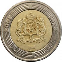 Coin > 5dirham, 2002 - Morocco  - obverse