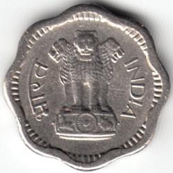 Mynt > 2nyepaise, 1957-1963 - India  - obverse