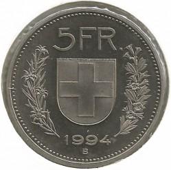 Moneta > 5franków, 1994 - Szwajcaria  - reverse