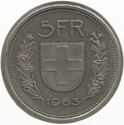 Moneta > 5franków, 1983 - Szwajcaria  - obverse