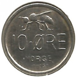 Mynt > 10 ore, 1958 - Norge  - obverse