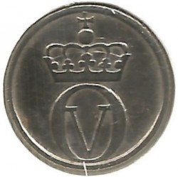 Mynt > 10 ore, 1958 - Norge  - reverse