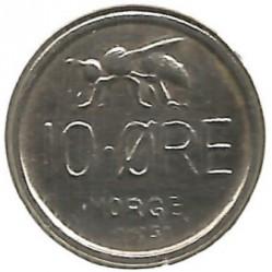 Mynt > 10ore, 1958 - Norge  - reverse
