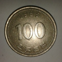 Moneta > 100vonų, 1985 - Pietų Korėja  - reverse