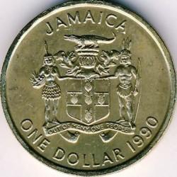 Pièce > 1dollar, 1990-1993 - Jamaïque  - obverse