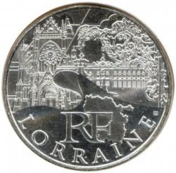 Moneda > 10euros, 2011 - Francia  (Regiones francesas - Lorena) - obverse