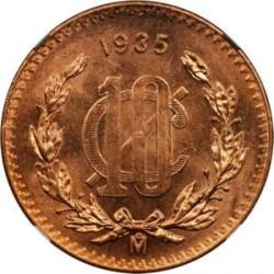 מטבע > 10סנטאבו, 1919-1935 - מקסיקו  - reverse