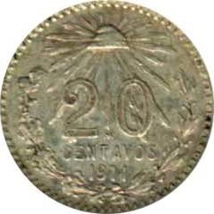 Moneta > 20centavos, 1905-1914 - Messico  - reverse