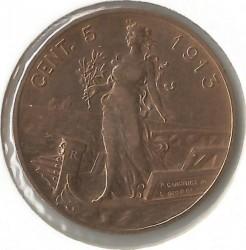 Moneta > 5centesimi, 1908-1918 - Włochy  - reverse