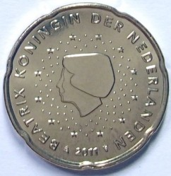 Moneda > 20centavos, 2007-2013 - Países Bajos  - reverse