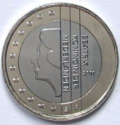 Münze > 1Euro, 2007-2013 - Niederlande  - obverse
