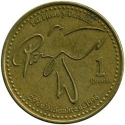 Moneda > 1quetzal, 1999-2012 - Guatemala  - reverse