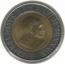 Monēta > 500liru, 1989 - Vatikāns  - obverse