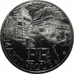 Moneda > 10euros, 2011 - Francia  (Regiones franceses - Martinica) - obverse
