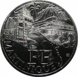 Moneda > 10euros, 2011 - Francia  (Regiones franceses - Martinica) - reverse