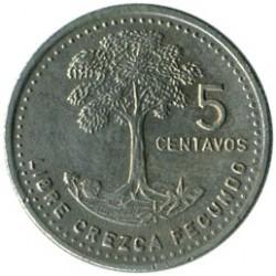 Кованица > 5центи, 1978-2008 - Гватемала  - reverse