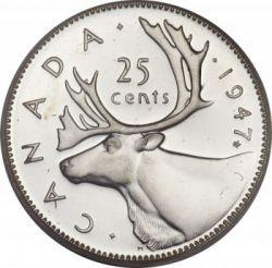 Moneta > 25centai, 1937-1947 - Kanada  - reverse