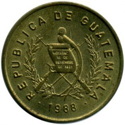Moneda > 1centavo, 1974-1995 - Guatemala  - reverse