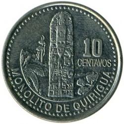Moneda > 10centavos, 1976-2008 - Guatemala  - reverse