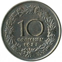Moneda > 10groschen, 1925-1929 - Austria  - reverse