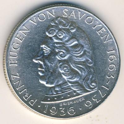 2 Schilling 1936 Prinz Eugen Von Savoyen österreich Münzen Wert
