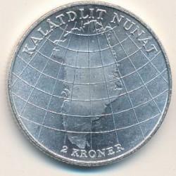 Moneda > 2coronas, 1953 - Dinamarca  (Campaign Against Tuberculosis in Greenland) - reverse