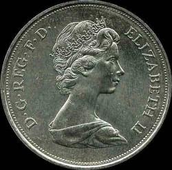 Moneda > 25peniques, 1972 - Reino Unido  (Aniversario de Plata de la Boda Real) - obverse