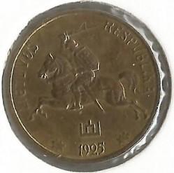 Монета > 1центас, 1925 - Литва  - obverse