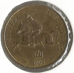 Монета > 1центас, 1925 - Литва  - reverse