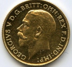 Moeda > ½libra(meiosovereign), 1911-1915 - Reino Unido  - obverse