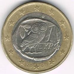 錢幣 > 1歐元, 2007-2017 - 希臘  - obverse