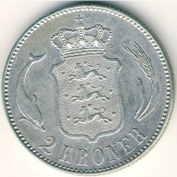Coin > 2kroner, 1915-1916 - Denmark  - obverse