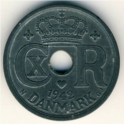 Монета > 25йоре, 1941-1945 - Дания  - obverse
