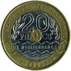 Moneta > 20franków, 1993 - Francja  (Igrzyska Śródziemnomorskie) - reverse
