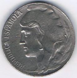 Moneta > 5centymów, 1937 - Hiszpania  - obverse
