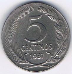 Moneta > 5centymów, 1937 - Hiszpania  - reverse