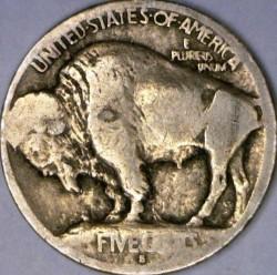 Minca > 5cents, 1913 - USA  (Buffalo Nickel) - reverse