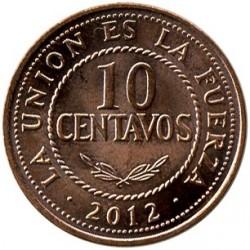 Coin > 10centavos, 2010-2012 - Bolivia  - obverse