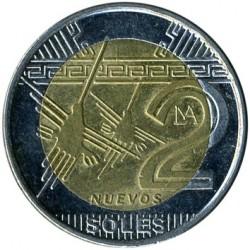 Coin > 2nuevossoles, 2010-2015 - Peru  - reverse