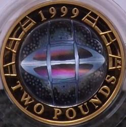 Moneda > 2libras, 1999 - Reino Unido  (Copa del Mundo de Rugby) - reverse