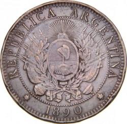 Moneta > 2centavos, 1882-1896 - Argentina  - obverse